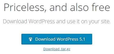 Izdelava WordPress strani - namestitev zadnje verzije WordPress